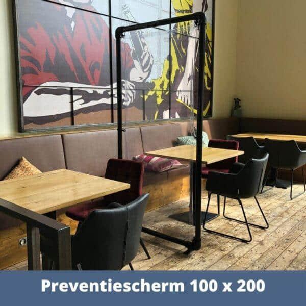 preventiescherm horeca 100 x 200 1